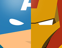 Minimal heroes of Comics two part