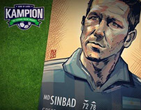 Cholo Simeone for Kampion - Football Cards