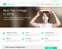 Ngampus - University PSD Template