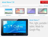 Ainol Novo 7.0 Landing Page