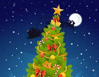 Christmas Tree with Bali Decoration