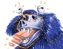 Mad baboon