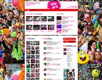 iAmsterdam Gaypride mashup page