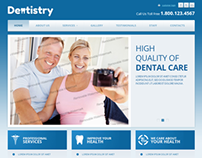 Dentistry High Quality Of Dental Care Bootstrap Templat
