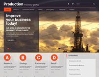 Production Industry Group Bootstrap HTML Template