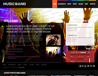 Online Music Band Twitter Bootstrap HTML Template