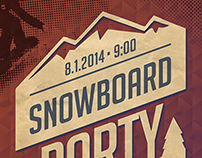 Snowboard Party Flyer