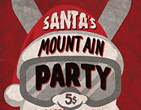 Santa's Mountain Party Flyer