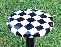 Chequered stool