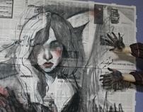 drawings on newspaper 2