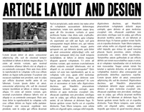 Article Layout and Design