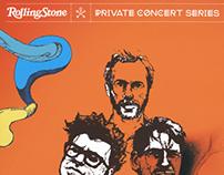 Rolling Stone White Denim Concert Poster
