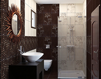 Luxury bathroom in brown