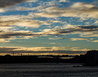 Stockholm at dusk - Winter's coming