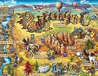 Arizona Illustrated Map