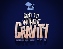 Can't fly without gravity album art