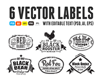 6 Vector Labels