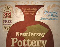 New Jersey Pottery Festival Poster