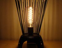 Metallic table lamp