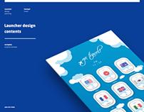 launcher design + contets