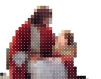 Pixel images Jesus