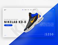 NikeLab KD-8 Website Concept