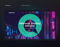 SMS Portal Website Design