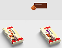Packaging for chocolate cake. Home holiday.