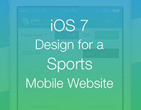 iOS 7 design for a Sports Mobile Website by Vinfotech