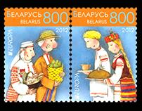 2 stamps on folk theme