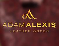 AdamAlexis leather goods logo