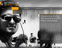 Website design for MIT Media Labs India