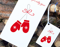 Christmas Greeting Cards - Red and Silver