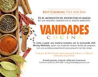 Producción del evento Vanidades Cocina