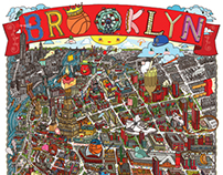 BROOKLYN illustrated map poster!