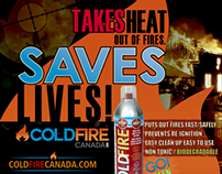 ColdFire Canada Ad Campaign and POP Display