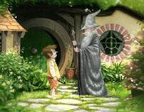 Bilbo meets Gandalf