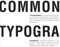 Common Typographic Diseases Text Layouts