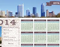 2014 Austin Texas Calendar