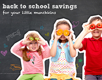 Coupons.com Back to School email and social marketing