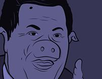 Chavez Pig Portrait