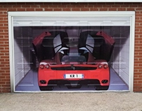 Garage door wrap