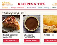 Grandparents.com Food Newsletter Template