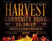 Harvest Community Drive Flyer Template