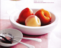 Dessert production for Living at Home magazine