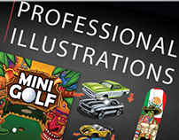 Professional illustration work--various