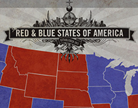 Red & Blue States of America