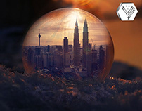 City in a ball
