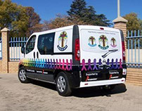 Harmony House of Hope Van Branding
