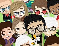 Bebo App Characters